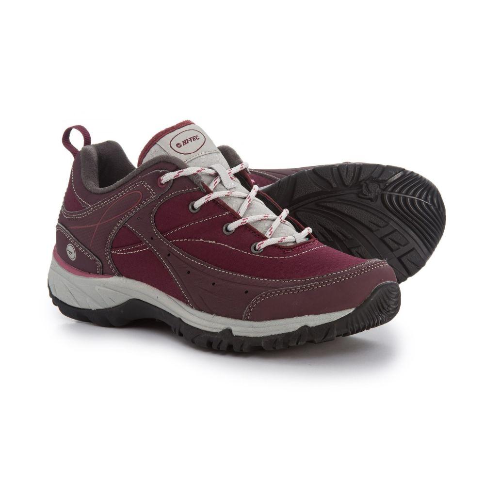 ハイテック Hi-Tec レディース ハイキング・登山 シューズ・靴【Equilibrio Bijou Low Hiking Shoes】Wine