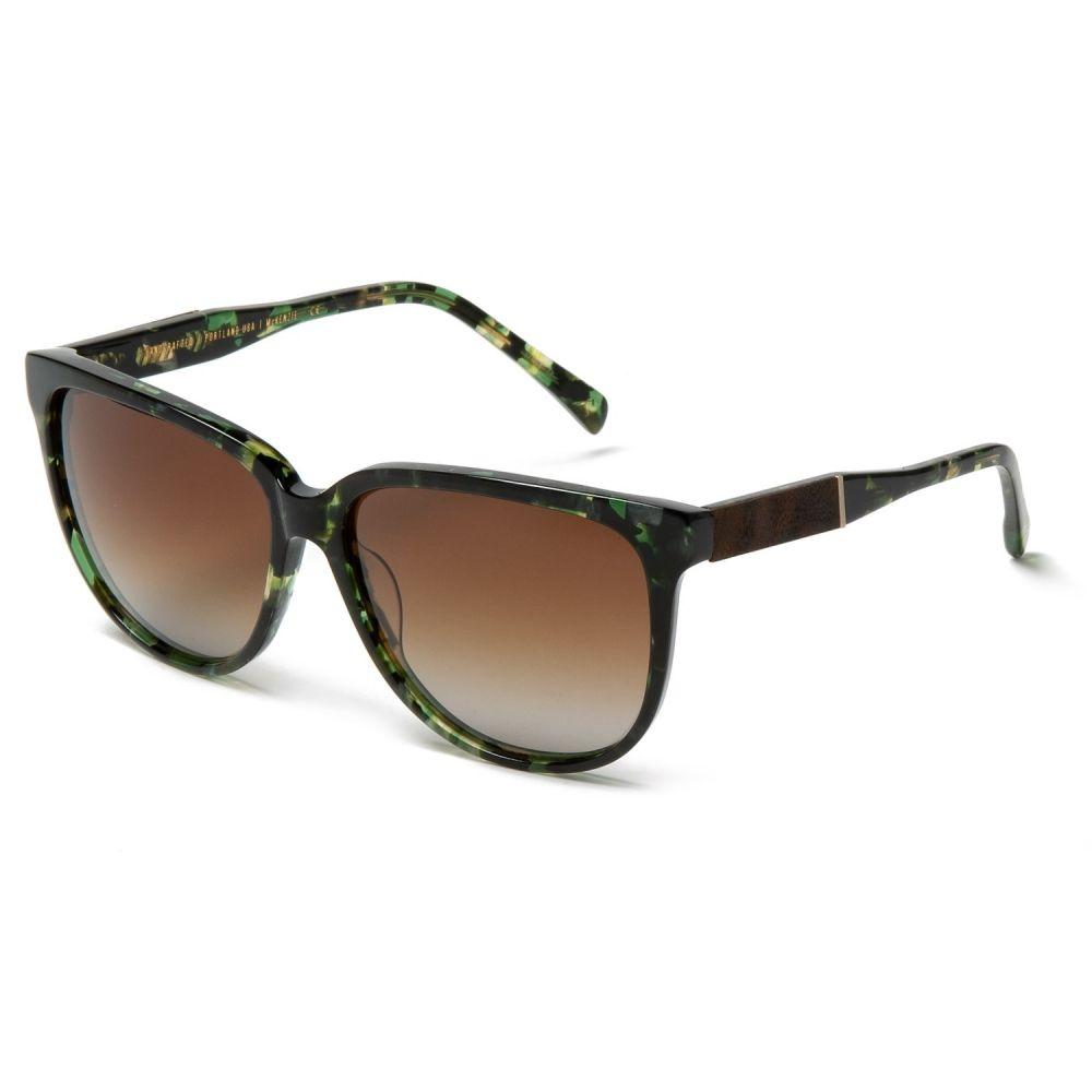 シュウッド Shwood レディース メガネ・サングラス【Mckenzie Sunglasses - Polarized】Dark Forest/Elm Burl/Brown Fade