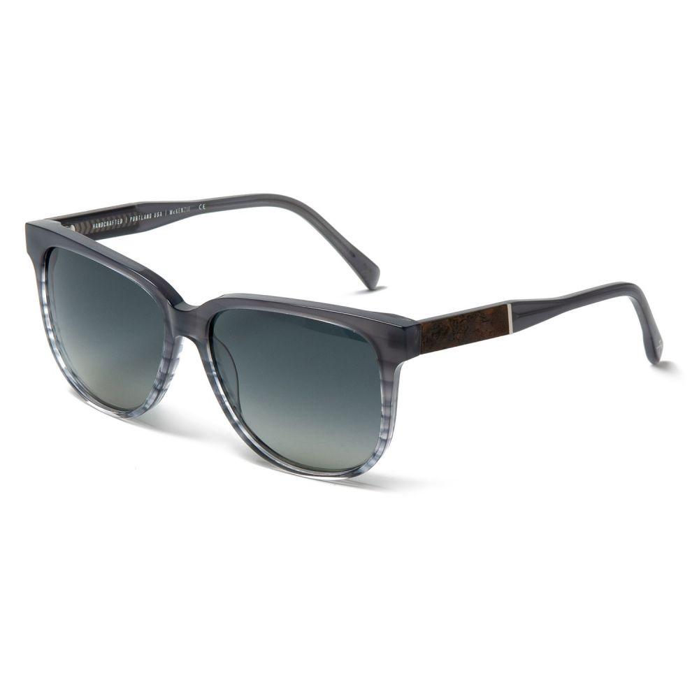 シュウッド Shwood レディース メガネ・サングラス【Mckenzie Sunglasses - Polarized】Mist/Elm Burl/Grey Fade
