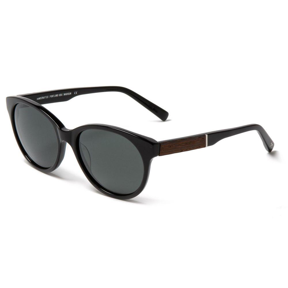 シュウッド Shwood レディース メガネ・サングラス【Madison Sunglasses - Polarized】Black/Ebony/Grey