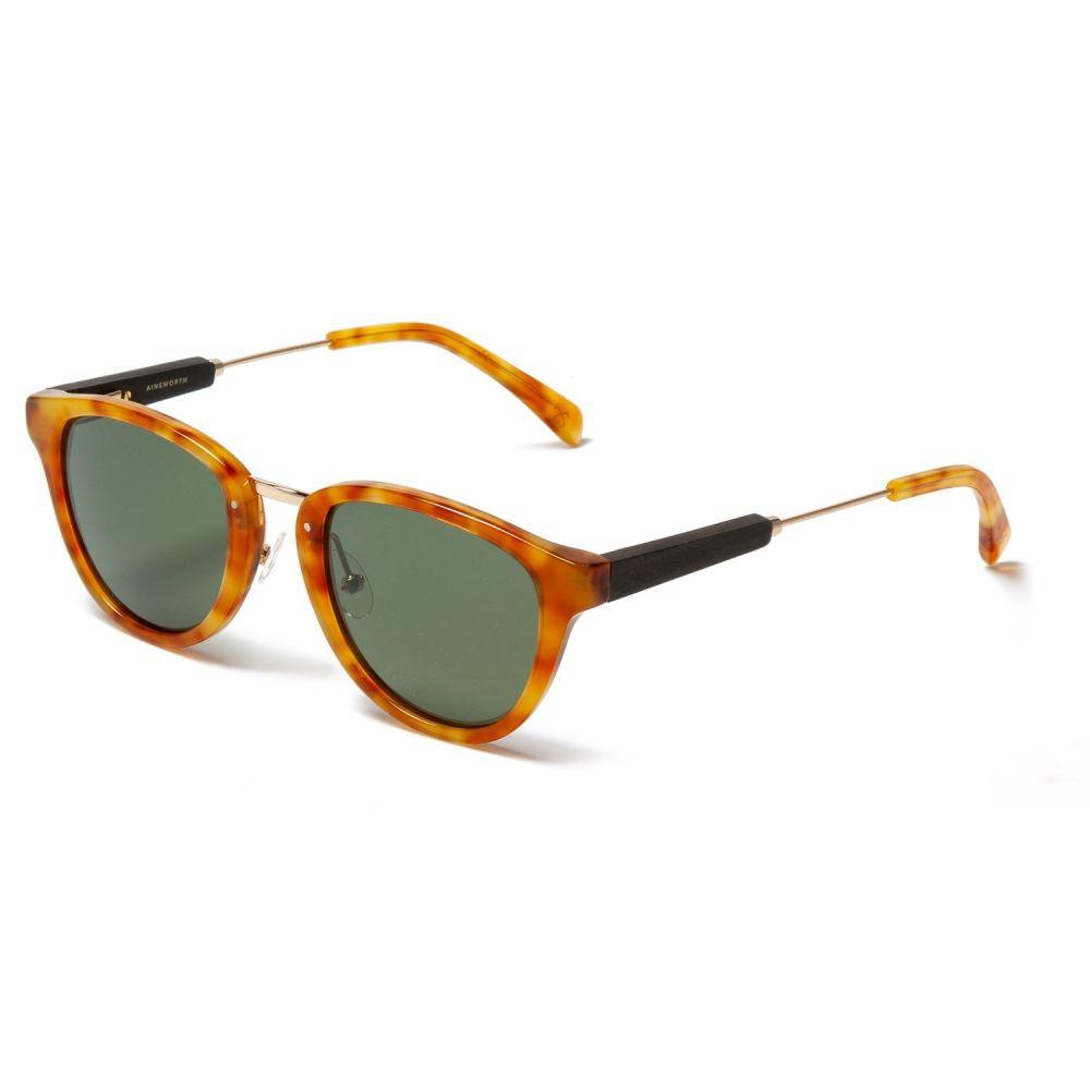 シュウッド Shwood レディース メガネ・サングラス【Ainsworth Sunglasses - Polarized】Amber/Matte Gold