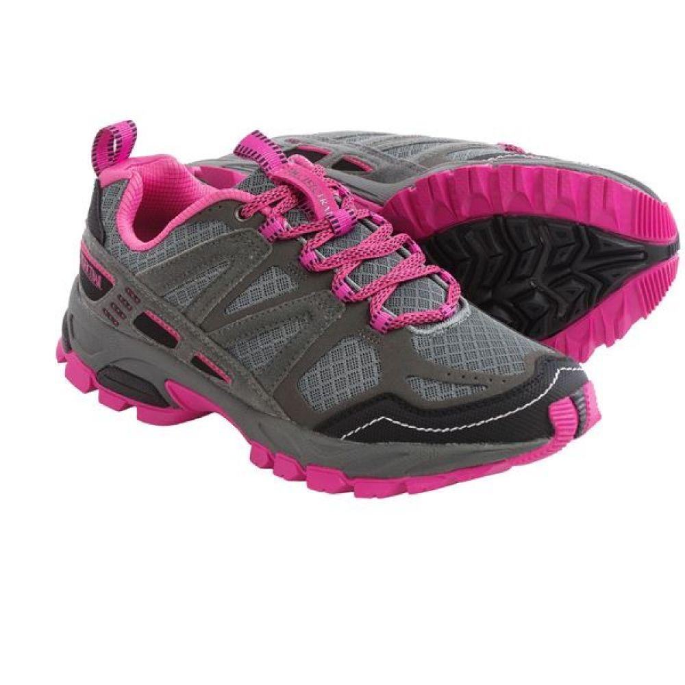 パシフィックトレイル Pacific Trail レディース ランニング・ウォーキング シューズ・靴【Tioga Trail Running Shoes】Gray/Sky