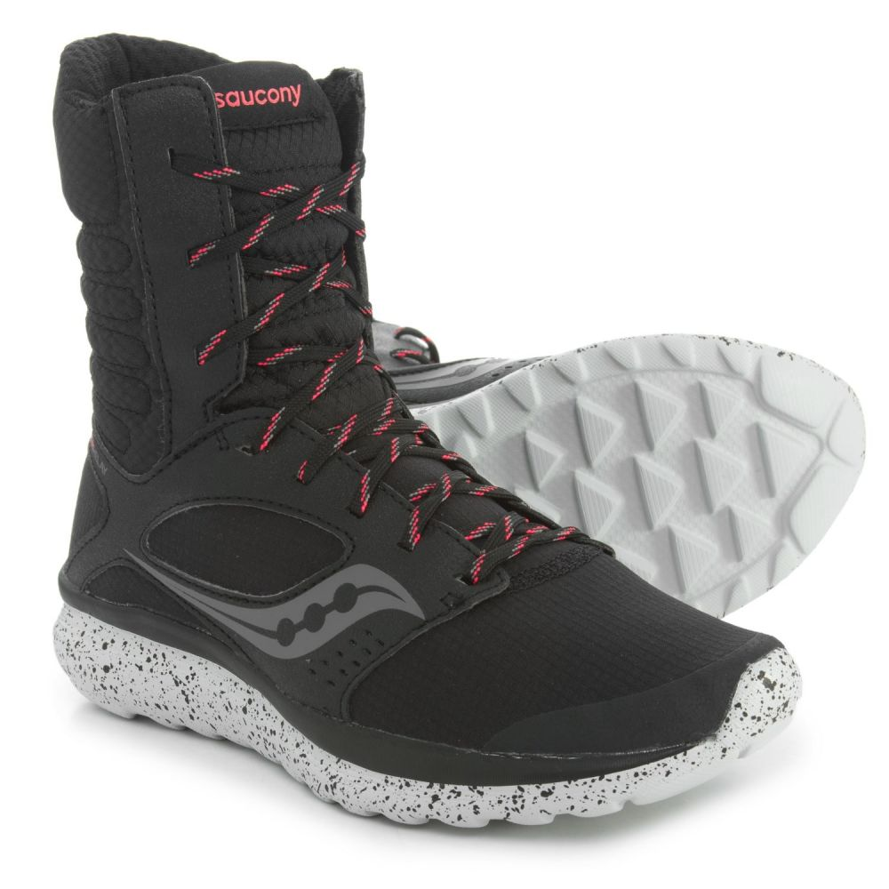 サッカニー Saucony レディース ランニング・ウォーキング シューズ・靴【Kineta Relay Boots Running Shoes】Black/Coral