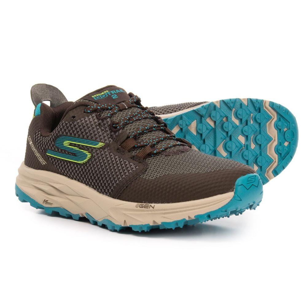 スケッチャーズ Skechers レディース ランニング・ウォーキング シューズ・靴【GOTrail 2 Trail Running Shoes】Chocolate/Blue