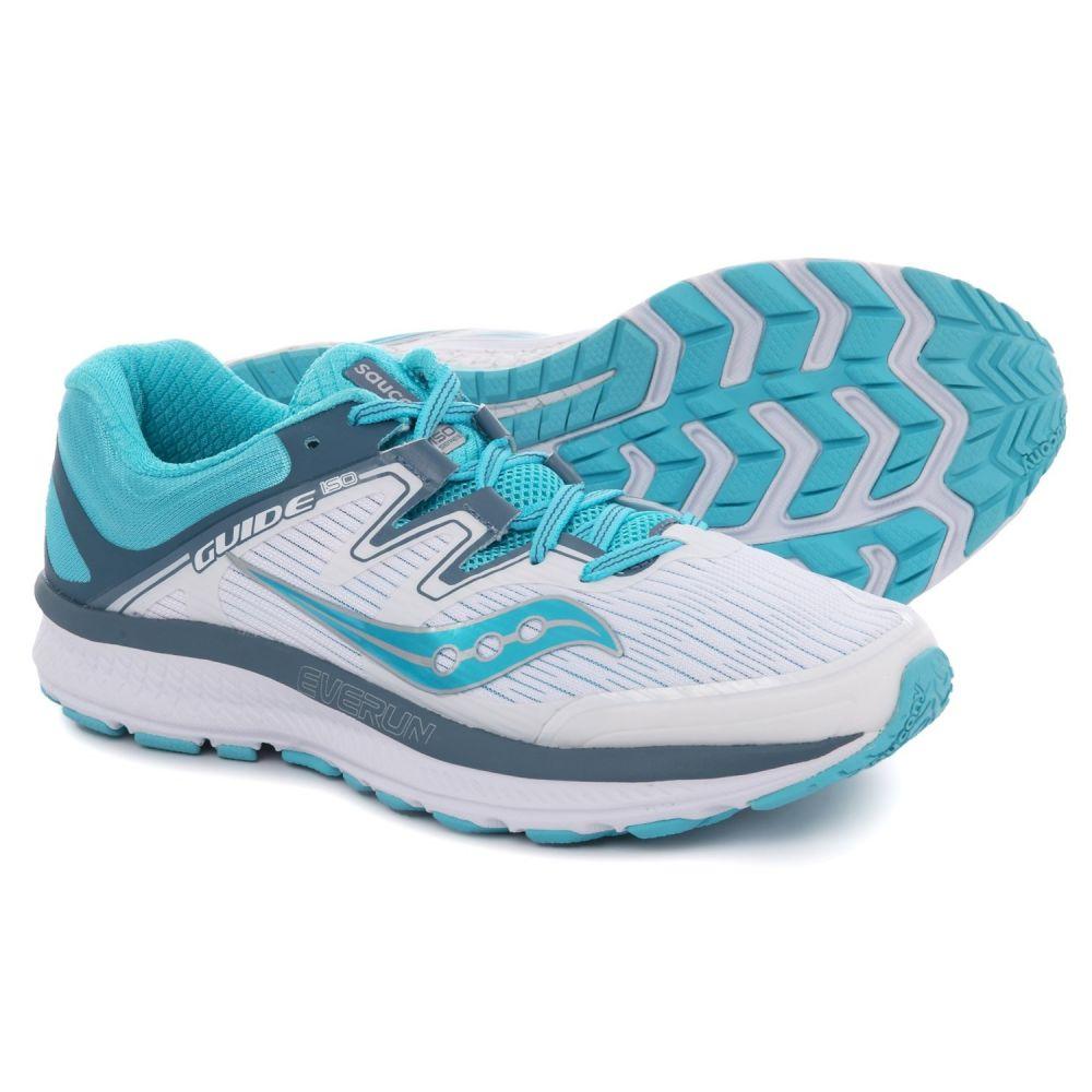 サッカニー Saucony レディース ランニング・ウォーキング シューズ・靴【Guide ISO Running Shoes】White/Blue