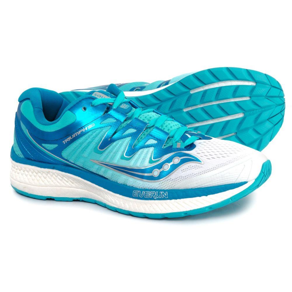 サッカニー Saucony レディース ランニング・ウォーキング シューズ・靴【Triumph ISO 4 Running Shoes】White/Blue