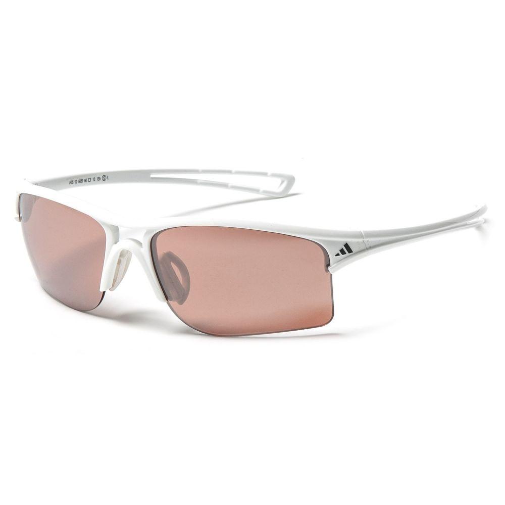 アディダス adidas メンズ スポーツサングラス【A405 Raylor S Sport Sunglasses】Shiny White/Lst Active Silver