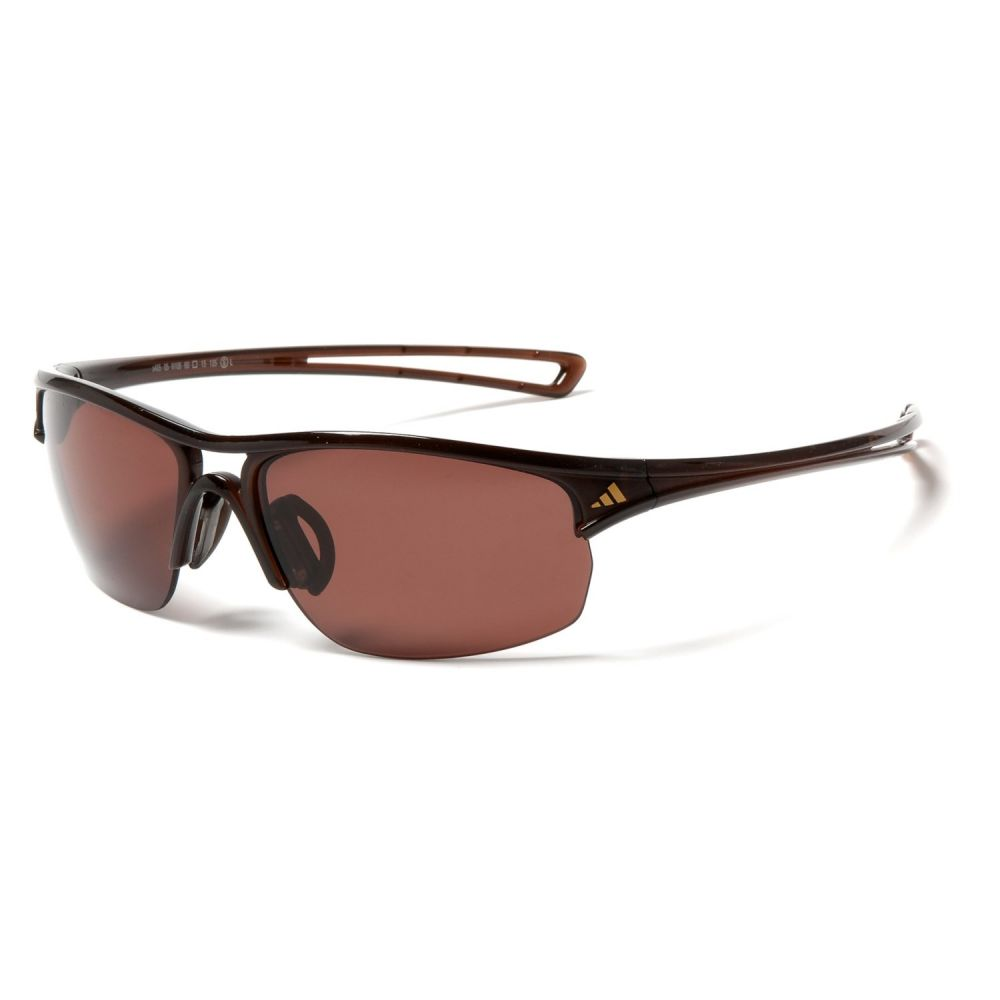 アディダス adidas メンズ スポーツサングラス【A404 Raylor L Sport Sunglasses】Shiny Brown/Lst Polarized