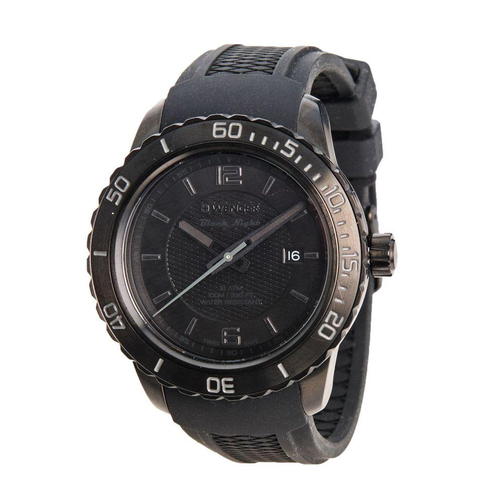 ウェンガー Wenger メンズ 腕時計【Roadster Black Night Watch - 45mm, Silicone Strap】Black/Black