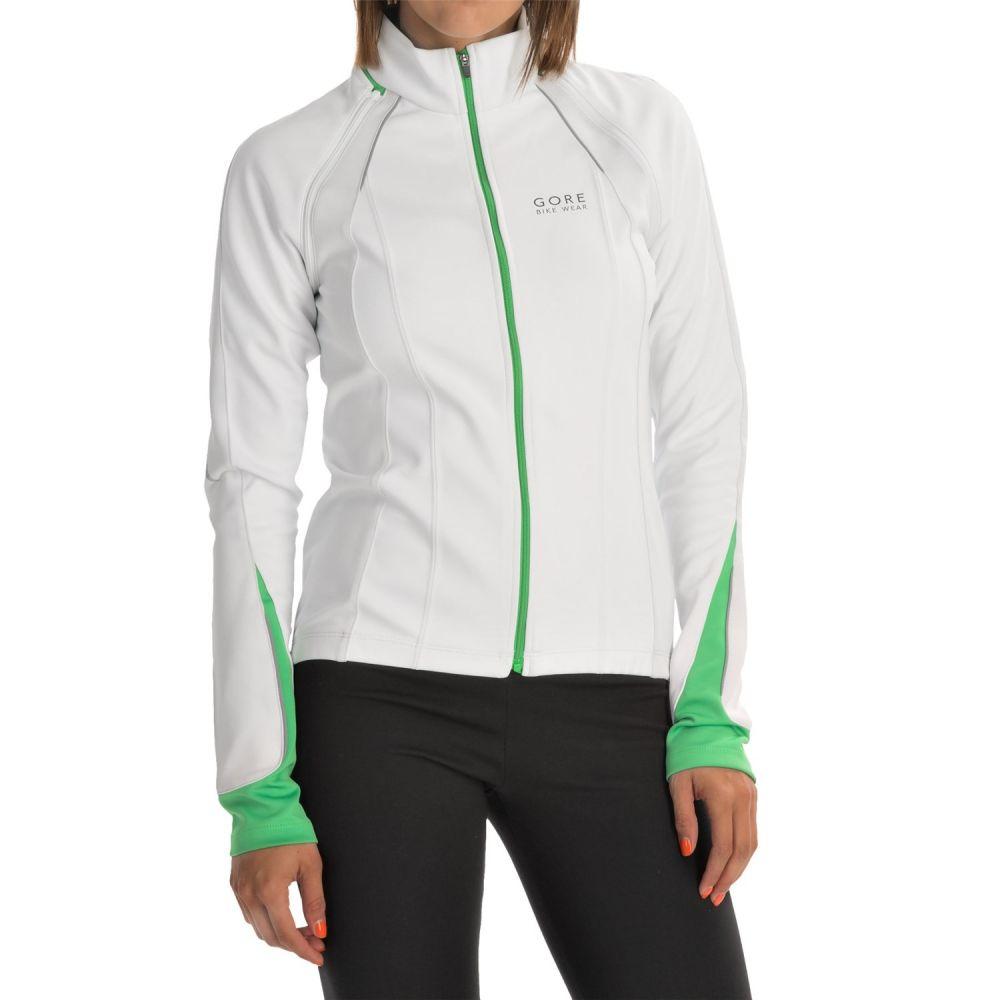ゴアバイクウェア Gore Bike Wear レディース 自転車 アウター【Phantom 2.0 Soft Shell Cycling Jacket - Windstopper】White/Fresh Green