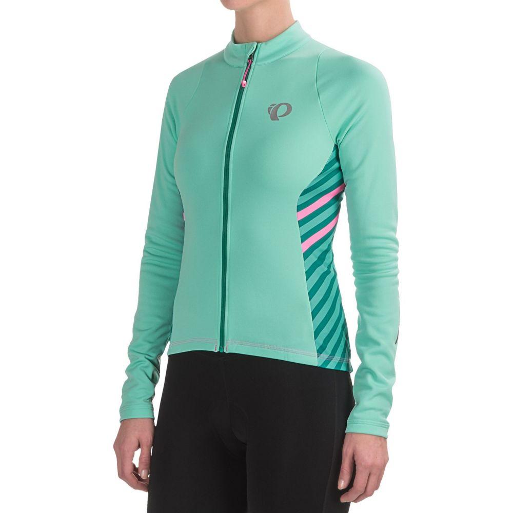 パールイズミ Pearl Izumi レディース 自転車 トップス【SELECT Pursuit Thermal Cycling Jersey - Long Sleeve】Aqua Mint Stripe