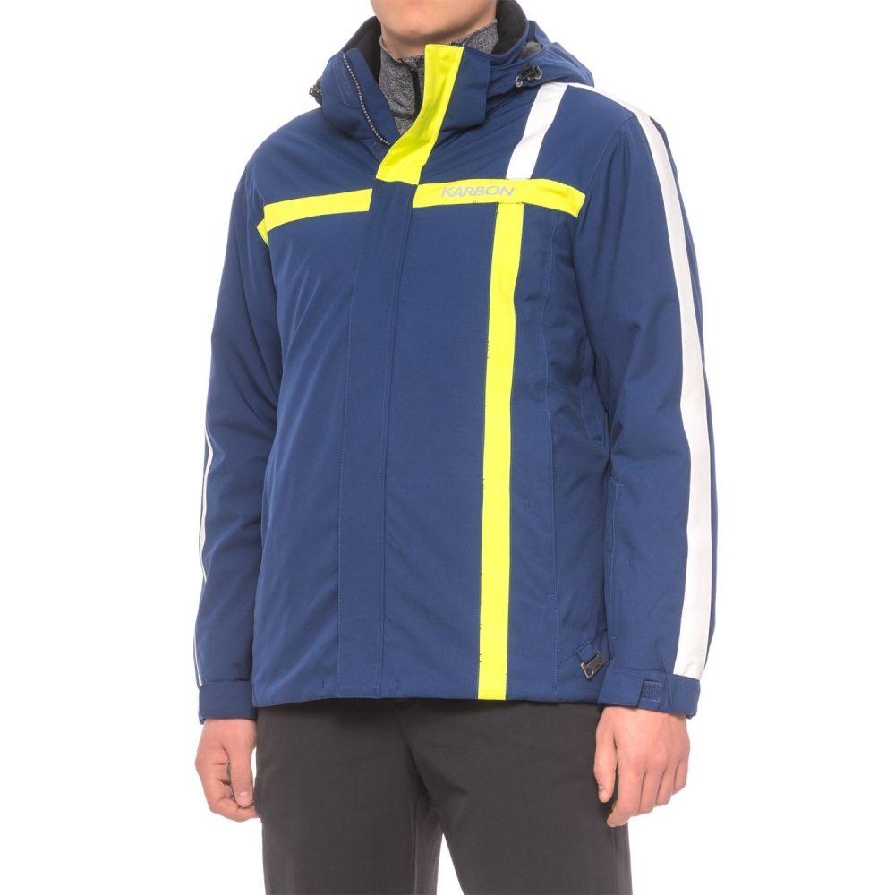 カーボン Karbon メンズ スキー・スノーボード アウター【Storm Ski Jacket - Waterproof, Insulated】Navy/Lime/White