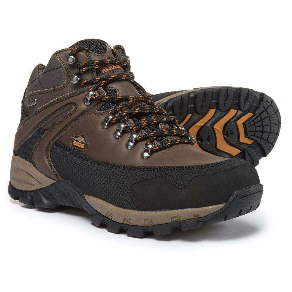 パシフィックトレイル Pacific Trail メンズ ハイキング・登山 シューズ・靴【Rainier Hiking Boots - Waterproof】Chocolate/Burnt Orange