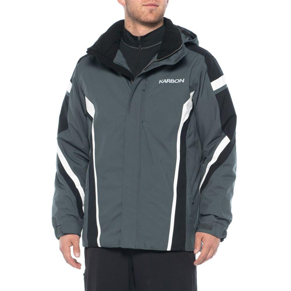 カーボン Karbon メンズ スキー・スノーボード アウター【Jupiter Ski Jacket - Waterproof, Insulated】Charcoal/Black/White