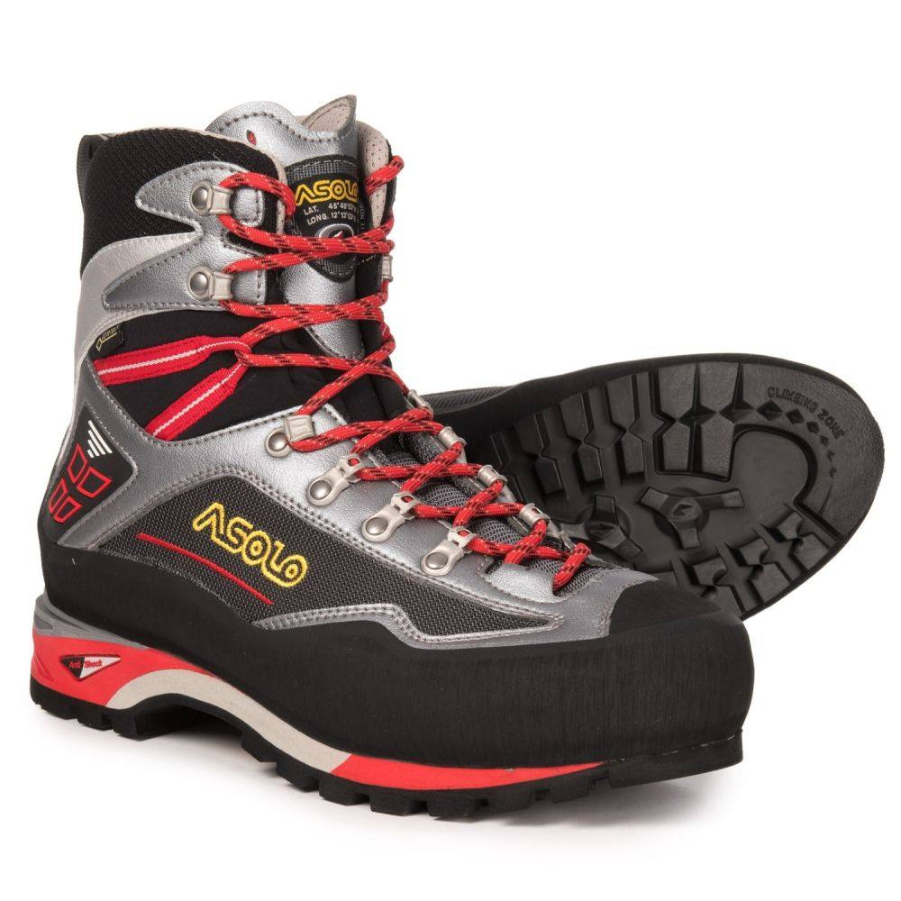 アゾロ Asolo メンズ ハイキング・登山 シューズ・靴【Parete Nord GV Gore-Tex Mountaineering Boots - Waterproof】Gunmetal/Grey