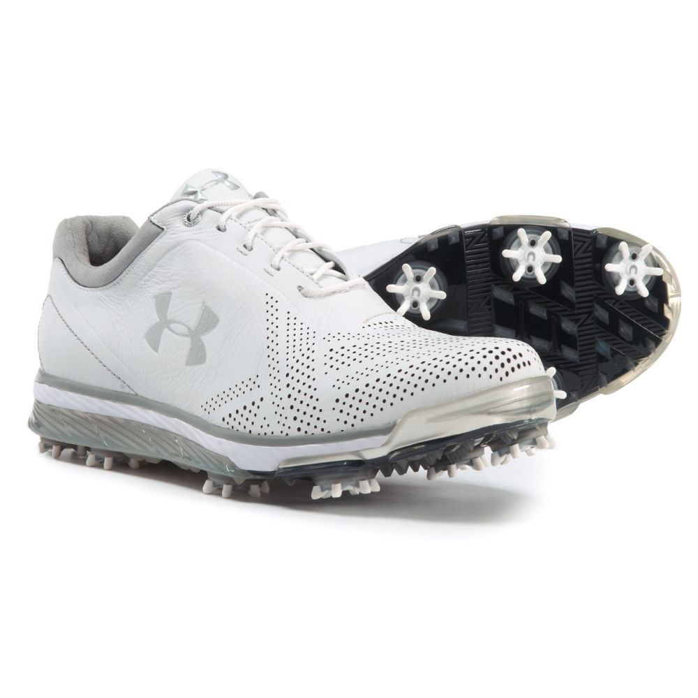 高級素材使用ブランド アンダーアーマー Golf Under Armour Armour Silver メンズ ゴルフ シューズ・靴【Tempo Tour Golf Shoes - Waterproof】White/Metallic Silver, 【最安値挑戦】:92eedd3d --- canoncity.azurewebsites.net