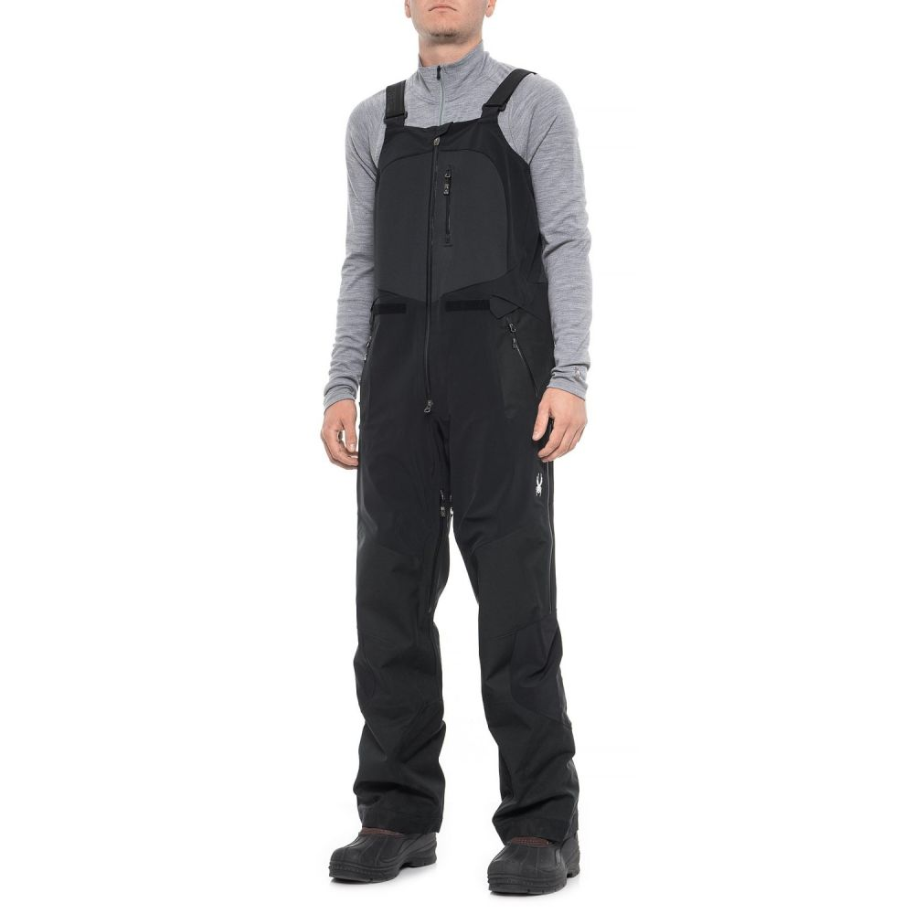 スパイダー Spyder メンズ スキー・スノーボード ボトムス・パンツ【Nordwand Ski Bib Pants - Waterproof】Black/Black/Black