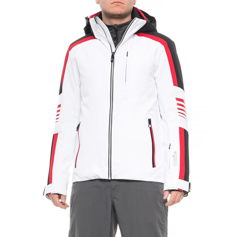 ゼロ Zero メンズ スキー・スノーボード アウター【Biomorphic Ski Jacket - Waterproof, Insulated】White/Bright Black