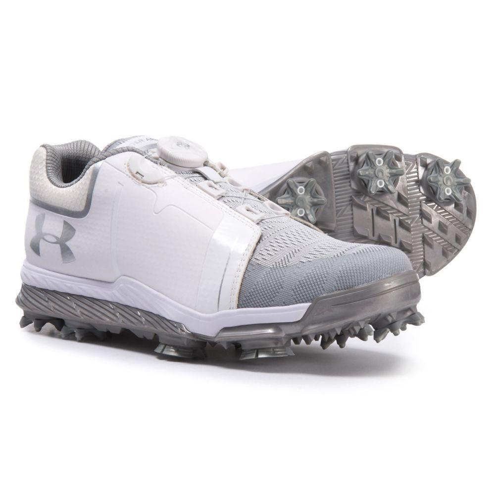 アンダーアーマー Under Armour レディース ゴルフ シューズ・靴【Tempo Sport BOA Golf Shoes】White/Metallic Silver