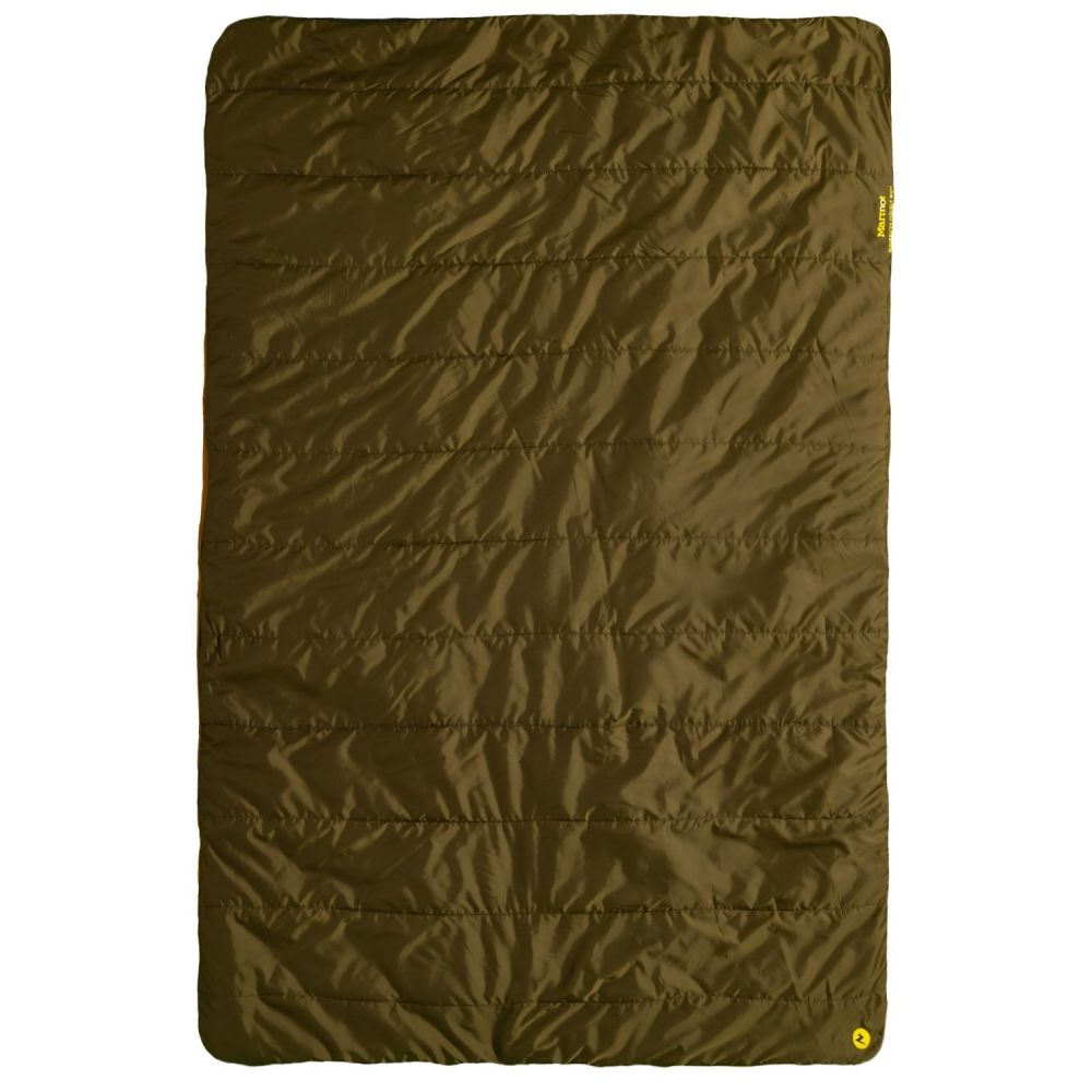 マーモット Marmot ユニセックス ハイキング・登山【30F Mavericks Double Wide Sleeping Bag - Rectangular】Golden Copper/Dark Olive