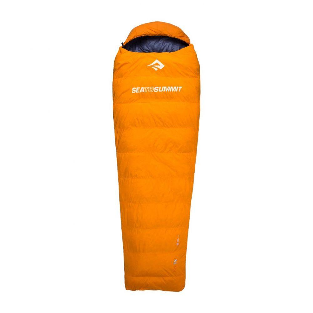 シー トゥ サミット Sea to Summit ユニセックス ハイキング・登山【32F Trek TK I Down Sleeping Bag - Long, Mummy, Left-Hand Zip, 650+ Fill Power】Orange