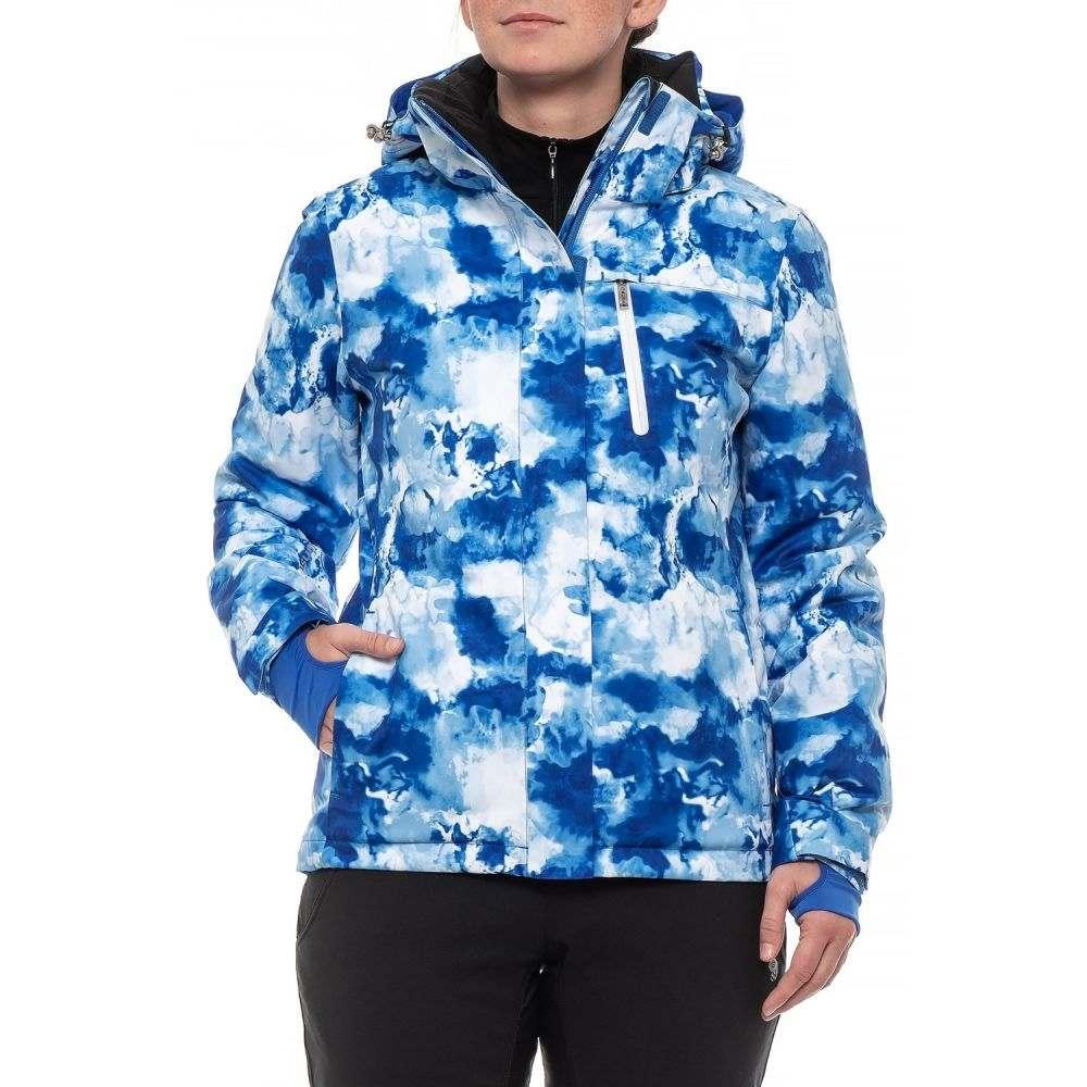 シンス Sunice レディース スキー・スノーボード アウター【Naquita Mountain Ski Jacket - Waterproof, Insulated】Lapis Watercolor
