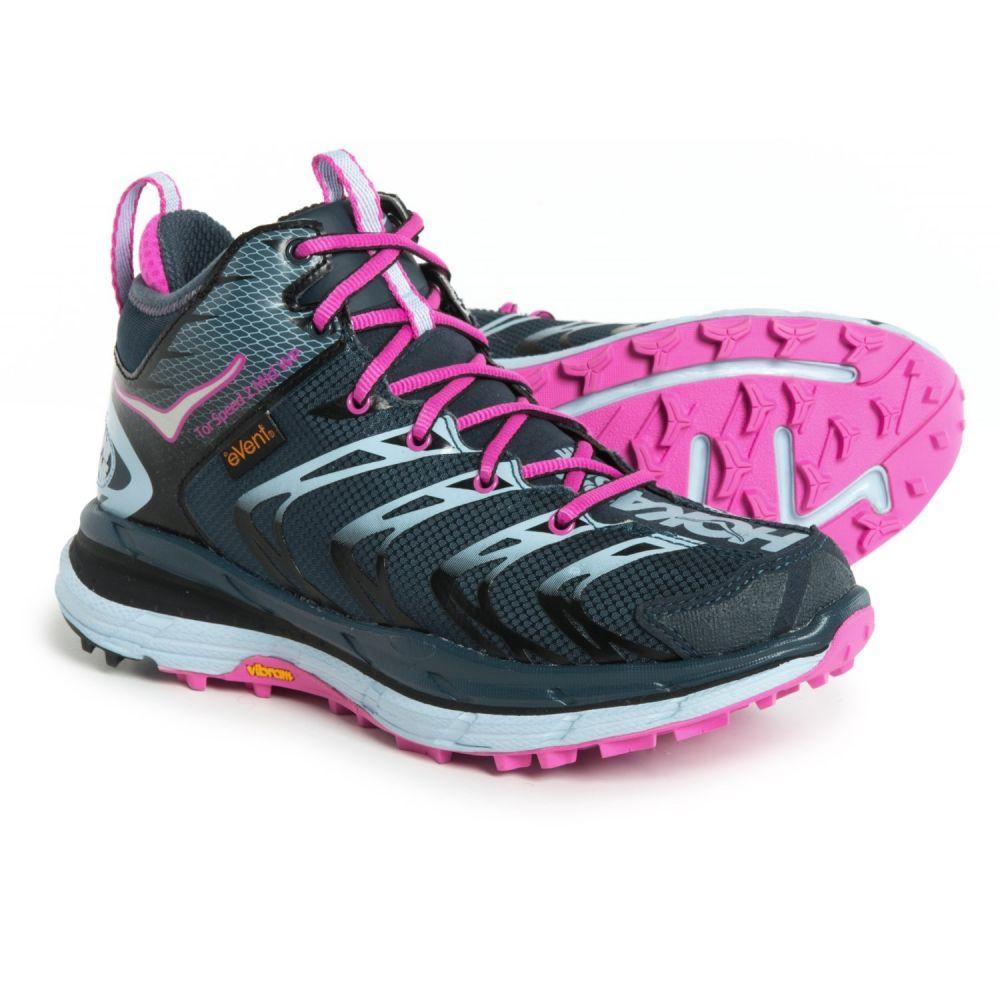 ホカ オネオネ Hoka One One レディース ハイキング・登山 シューズ・靴【Tor Speed 2 Mid WP Hiking Boots - Waterproof】Midnight Navy/Neon Fuchsia