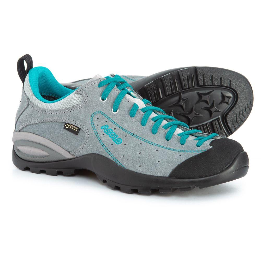 アゾロ Asolo レディース ハイキング・登山 シューズ・靴【Shiver GV Gore-Tex Hiking Shoes - Waterproof】Cloudy Grey/Blue Peacock