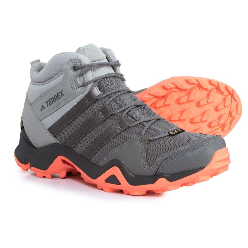 アディダス adidas レディース ハイキング・登山 シューズ・靴【Terrex AX2R Mid Gore-Tex Hiking Boots - Waterproof】Grey Two/Grey Three/Chalk Coral
