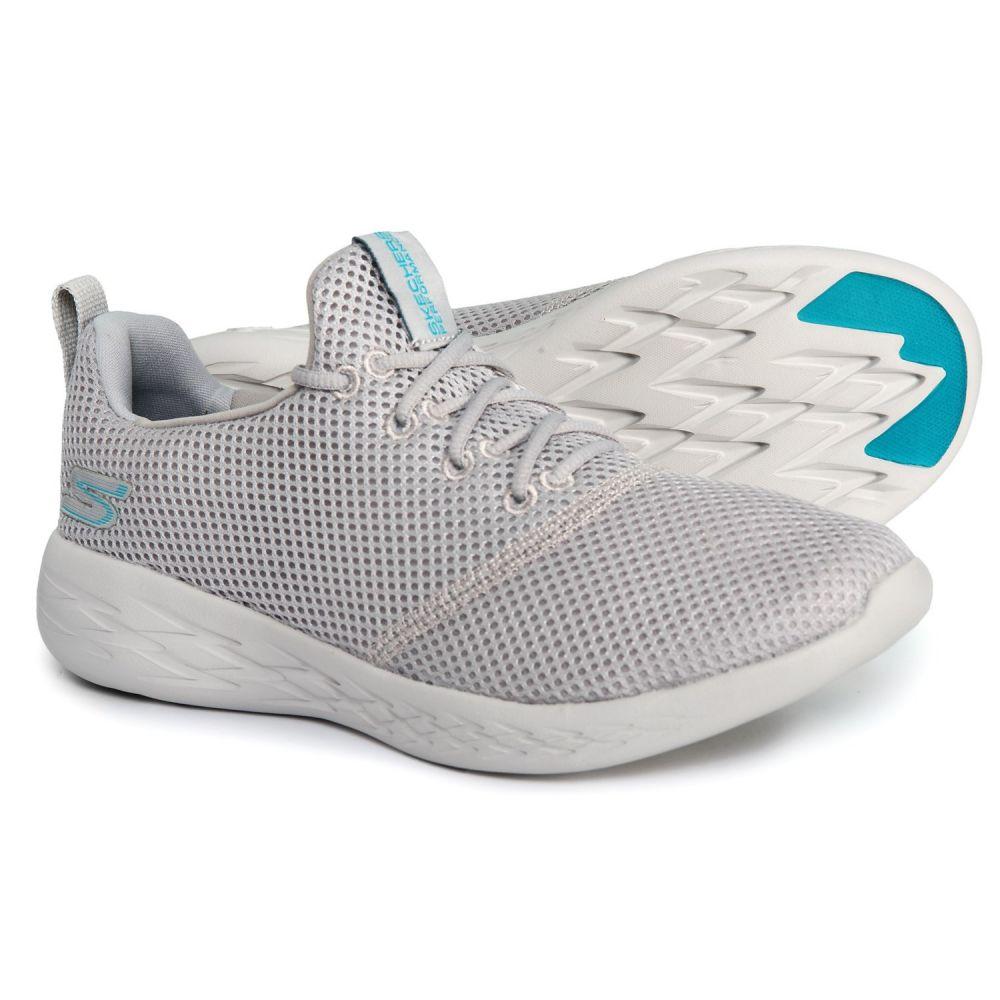 スケッチャーズ Skechers レディース フィットネス・トレーニング シューズ・靴【GOrun 600 Defiance Cross-Training Shoes】Gray/Blue