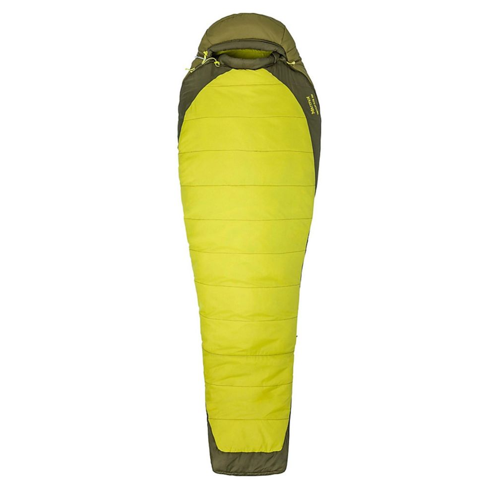 マーモット Marmot ユニセックス ハイキング・登山【30F Trestles Elite Sleeping Bag - Mummy】Citronelle/Fir Green