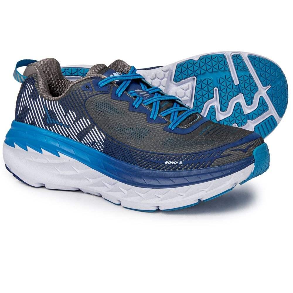 【お1人様1点限り】 ホカ オネオネ オネオネ Hoka One One メンズ 5 Blue ランニング・ウォーキング シューズ・靴【Bondi 5 Running Shoes】Charcoal Grey/True Blue, シカベチョウ:7ae6961e --- nba23.xyz