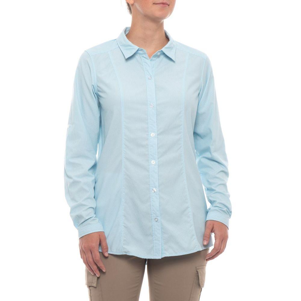 エクスオフィシオ ExOfficio レディース トップス ブラウス・シャツ【BugsAway Zeta Stripe Shirt - UPF 50, Long Sleeve】Salightwater