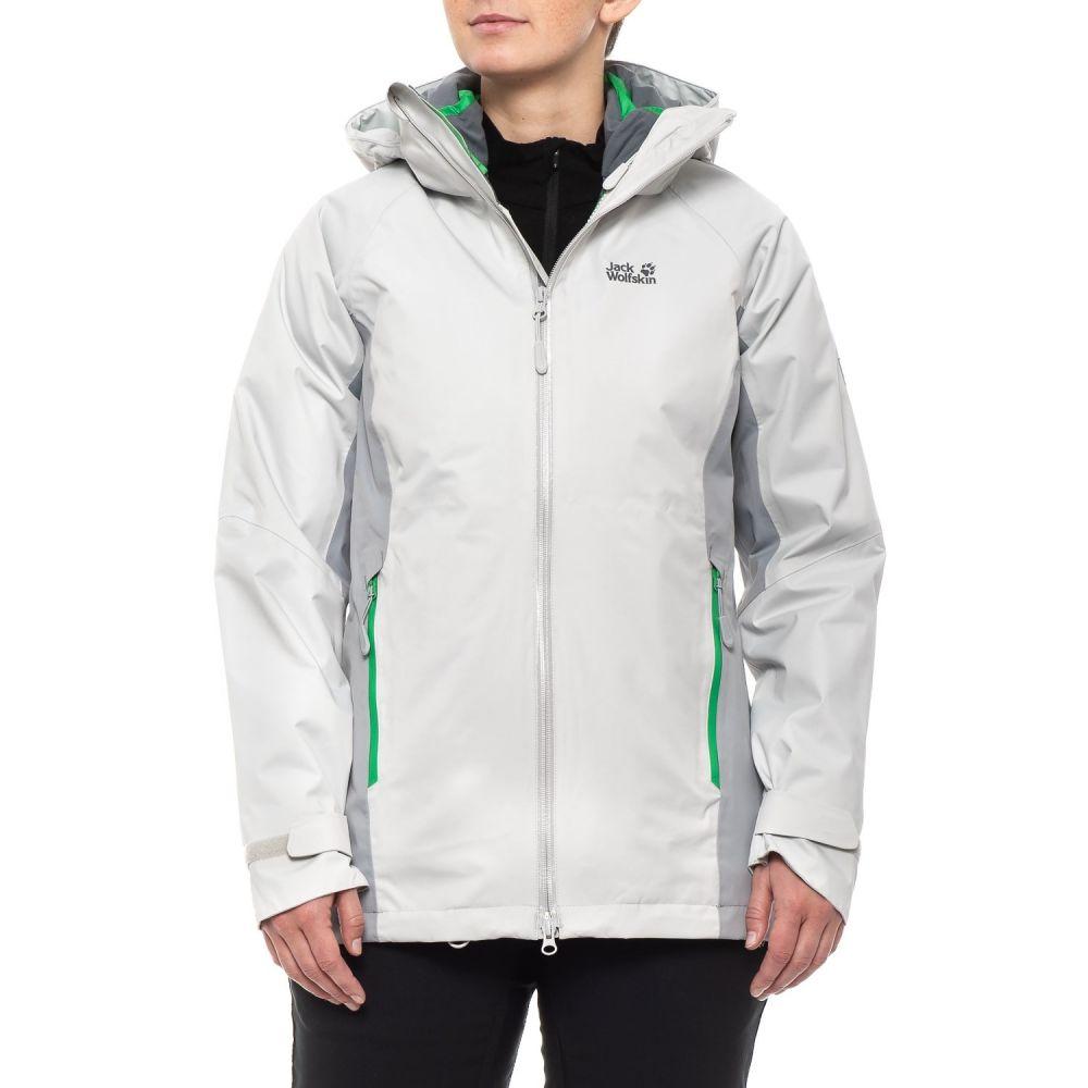ジャックウルフスキン Jack Wolfskin レディース スキー・スノーボード アウター【Colorado Flex 3-in-1 Ski Jacket - Waterproof, Insulated】Grey Haze