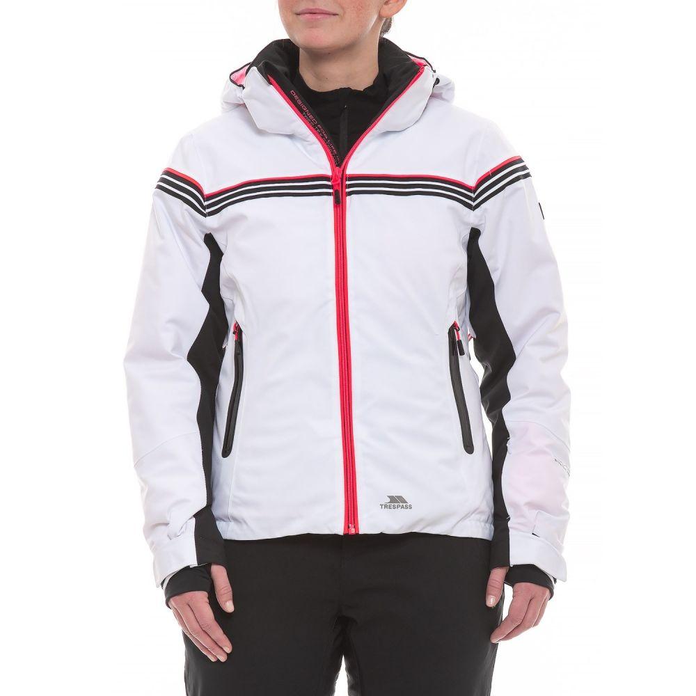 トレスパス Trespass レディース スキー・スノーボード アウター【Clarity DLX Ski Jacket - Waterproof, Insulated】White