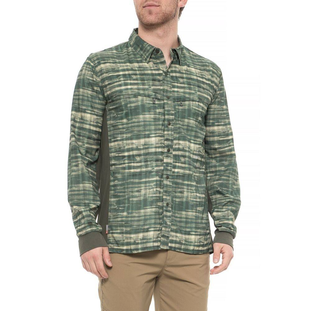 シムズ Simms メンズ 釣り・フィッシング トップス【BugStopper Intruder Bicomp Fishing Shirt - UPF 30+, Long Sleeve】Mountain Print Loden