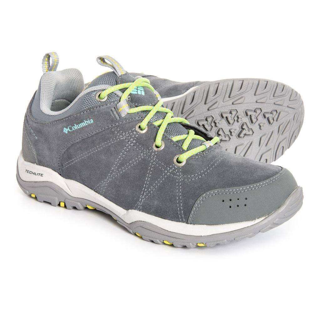 コロンビア Columbia Sportswear レディース ハイキング・登山 シューズ・靴【Fire Venture Low Omni-Tech Hiking Shoes - Waterproof】Ti Grey Steel/Aquarium