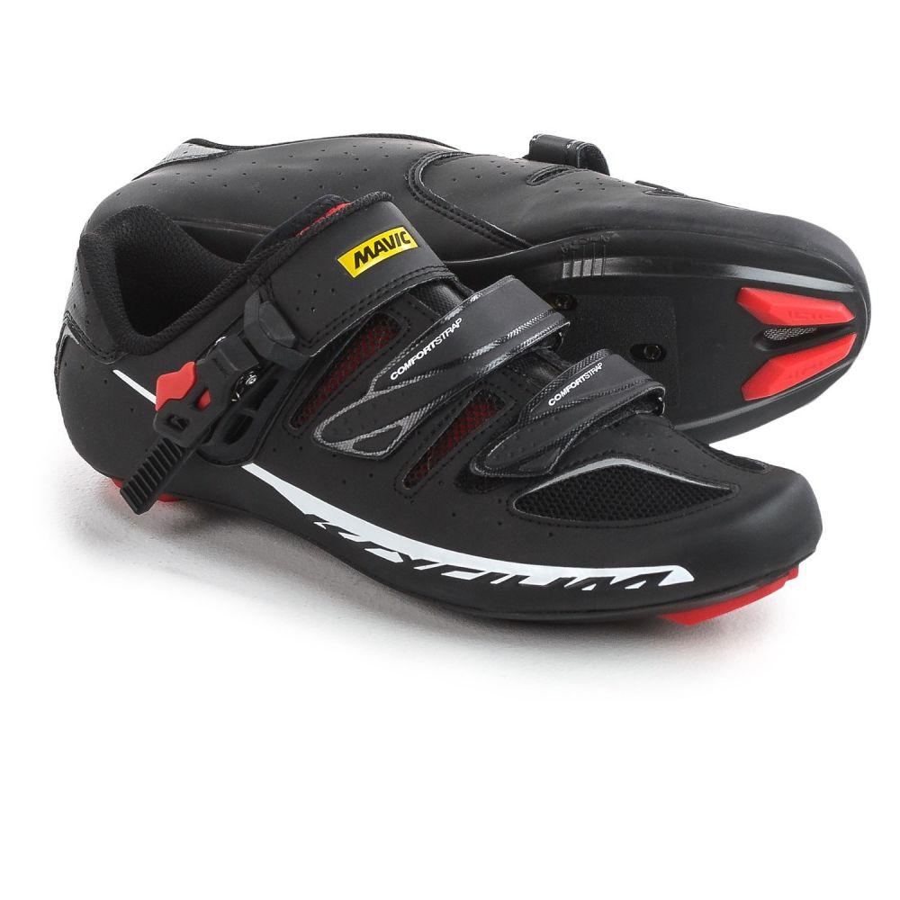 マヴィック Mavic メンズ 自転車 シューズ・靴【Ksyrium Elite II Road Cycling Shoes - 3-Hole】Black/Red/Black