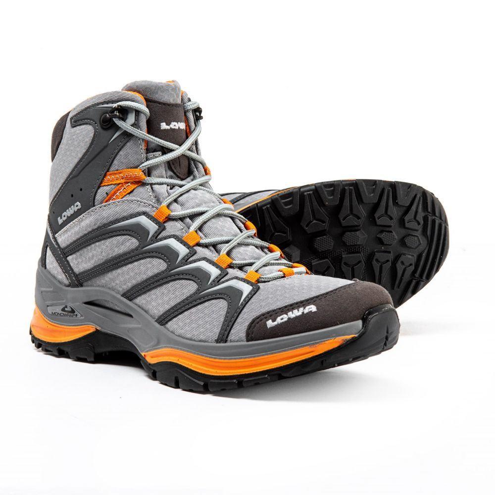 ロワ Lowa レディース ハイキング・登山 シューズ・靴【Innox Mid Hiking Boots】Gray/Mango