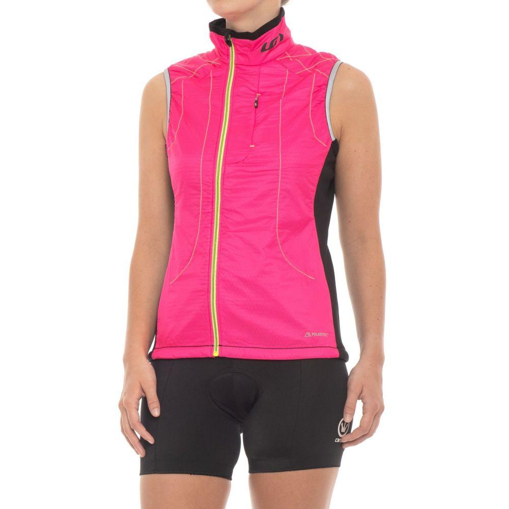 ルイガノ Louis Garneau レディース 自転車 トップス【Polartec Alpha Cycling Vest - Insulated, Full Zip】Pink Glow