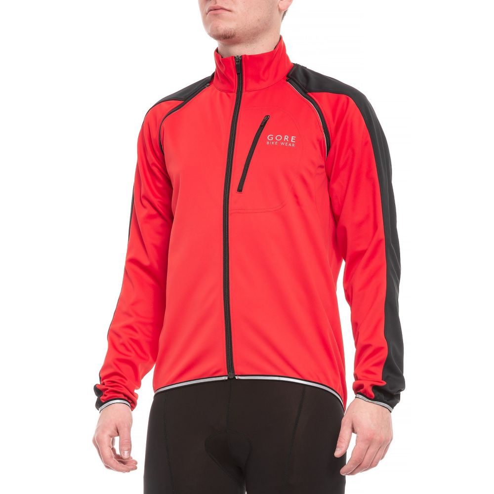 ゴアバイクウェア Gore Bike Wear メンズ 自転車 アウター【Phantom Plus Windstopper Zip-Off Cycling Jacket】Red/Black
