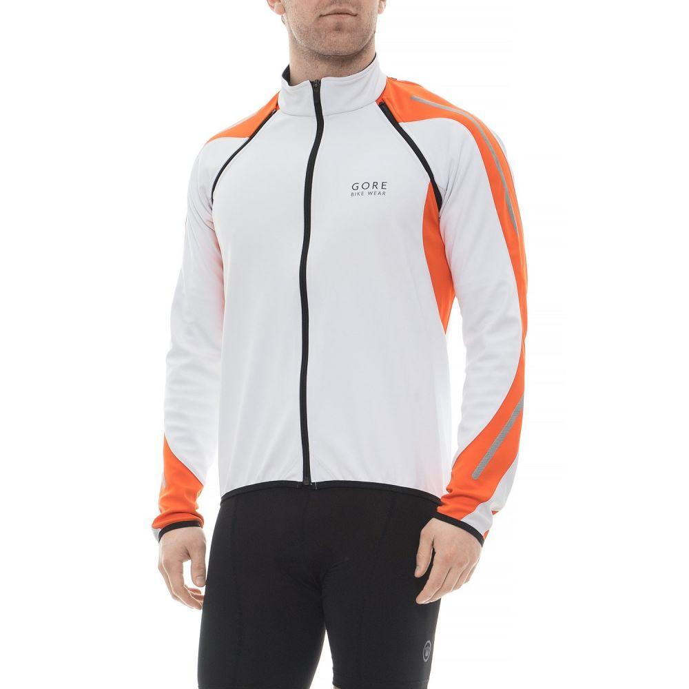 ゴアバイクウェア Gore Bike Wear メンズ 自転車 アウター【Phantom 2.0 Windstopper SO Cycling Jacket】White/Blaze Orange