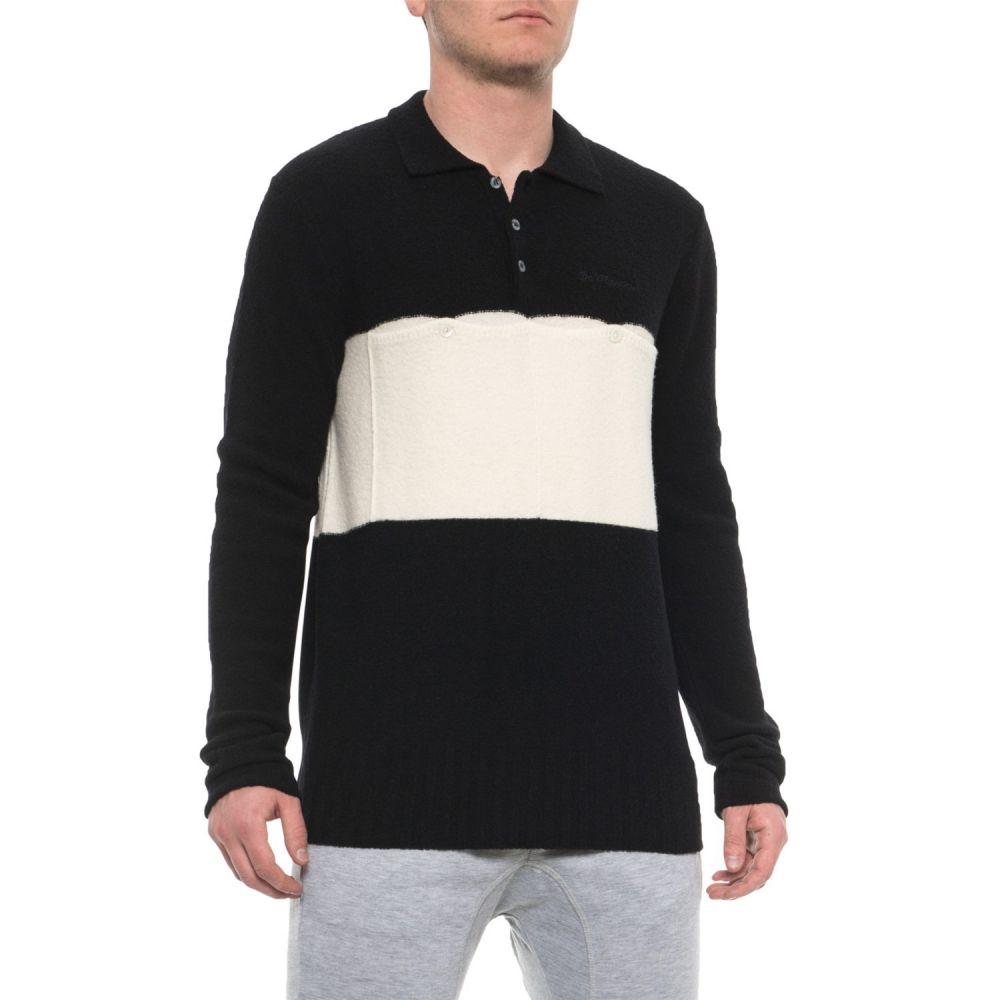 デマルキ De Marchi メンズ 自転車 トップス【Made in Italy Lana Storica Cycling Jersey - Merino Wool, Long Sleeve】Black/White