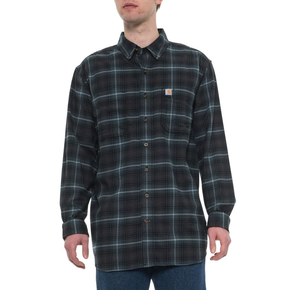 カーハート Carhartt メンズ トップス シャツ【103314T Rugged Flex Hamilton Plaid Shirt - Long Sleeve】Dark Slate