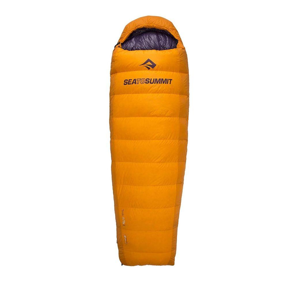 シー トゥ サミット Sea to Summit レディース ハイキング・登山【20F Trek TK II Sleeping Bag - 650+ Fill Power, Mummy, Long】Orange