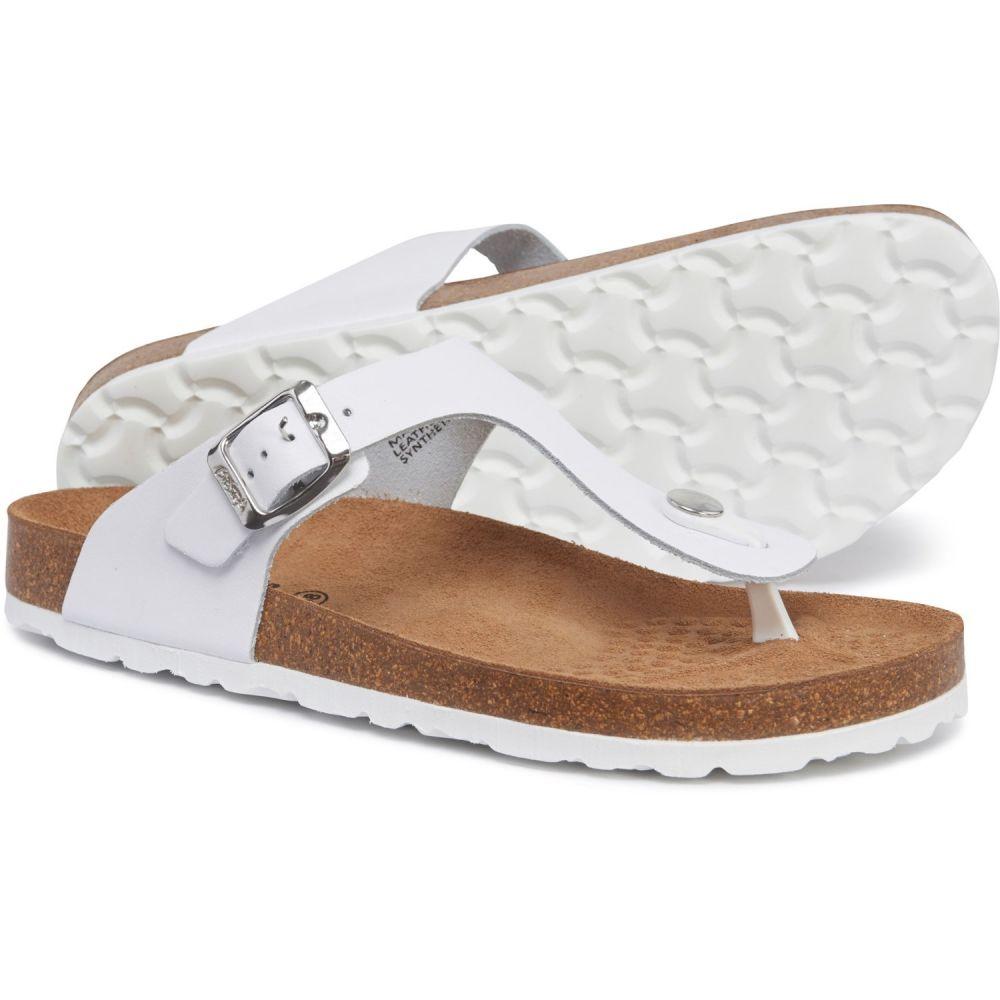 ペドロイニエスタ PEDRO INIESTA レディース シューズ・靴 ビーチサンダル【Made in Spain Blanco Footbed Flip-Flops - Nubuck】Blanco