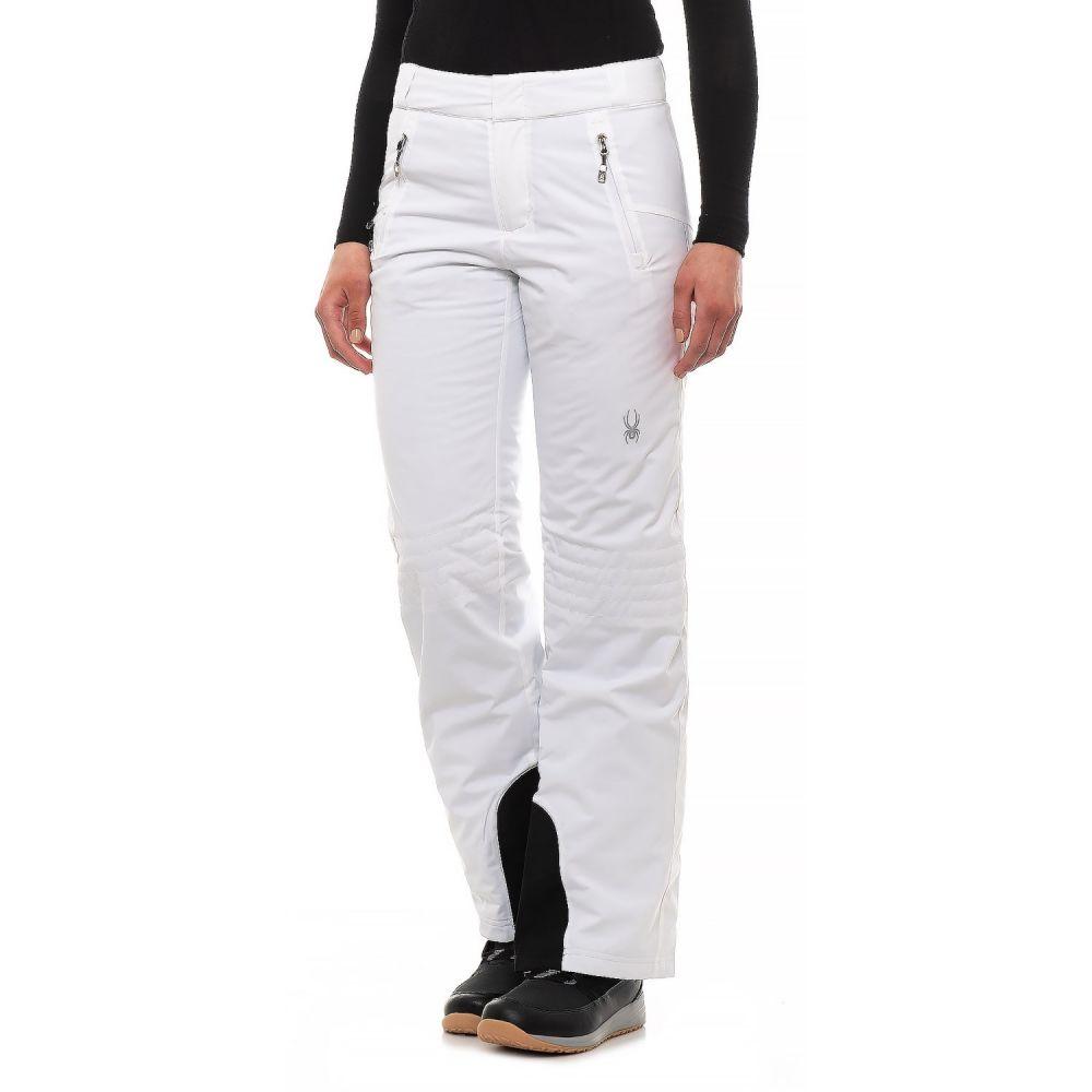 スパイダー Spyder レディース スキー・スノーボード ボトムス・パンツ【Winter Ski Pants - Waterproof, Insulated】White/White