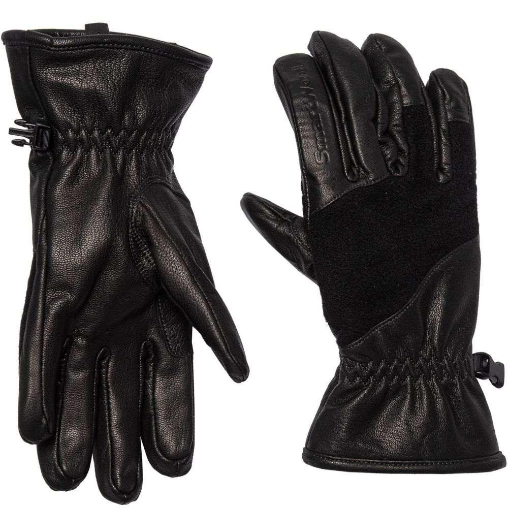 スマートウール SmartWool メンズ 手袋・グローブ【Ridgeway Gloves - Leather, Merino Wool】Black