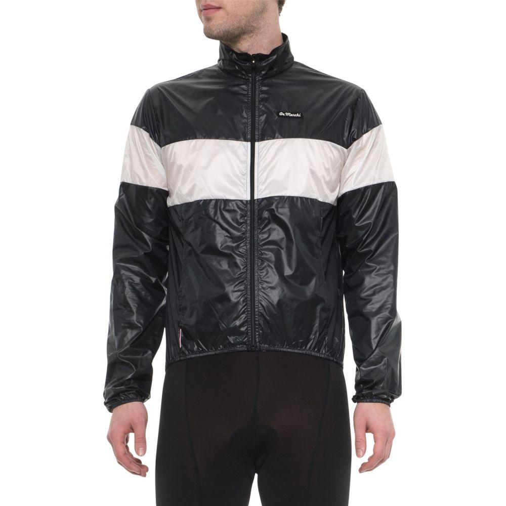 デマルキ De Marchi メンズ 自転車 アウター【Made in Italy Stowaway Cycling Jacket】Black/White
