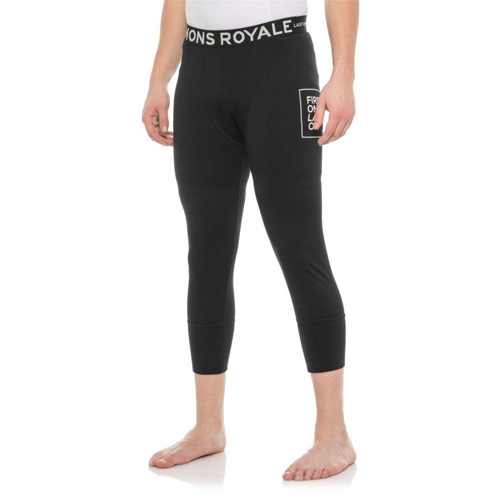 モンスロイヤル Mons Royale メンズ インナー・下着 タイツ・スパッツ【Shaun-Off 3/4 Base Layer Pants - Merino Wool】Black
